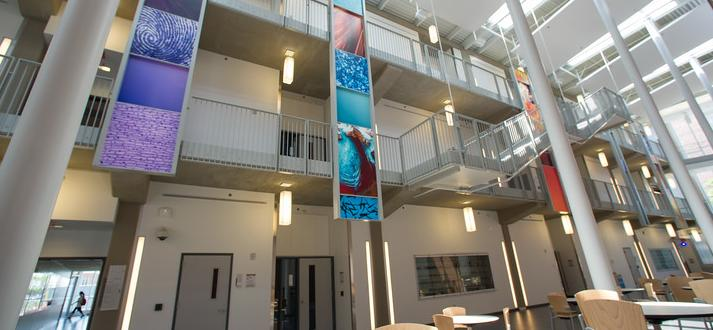 Image of the inside of Buffalo State's science building